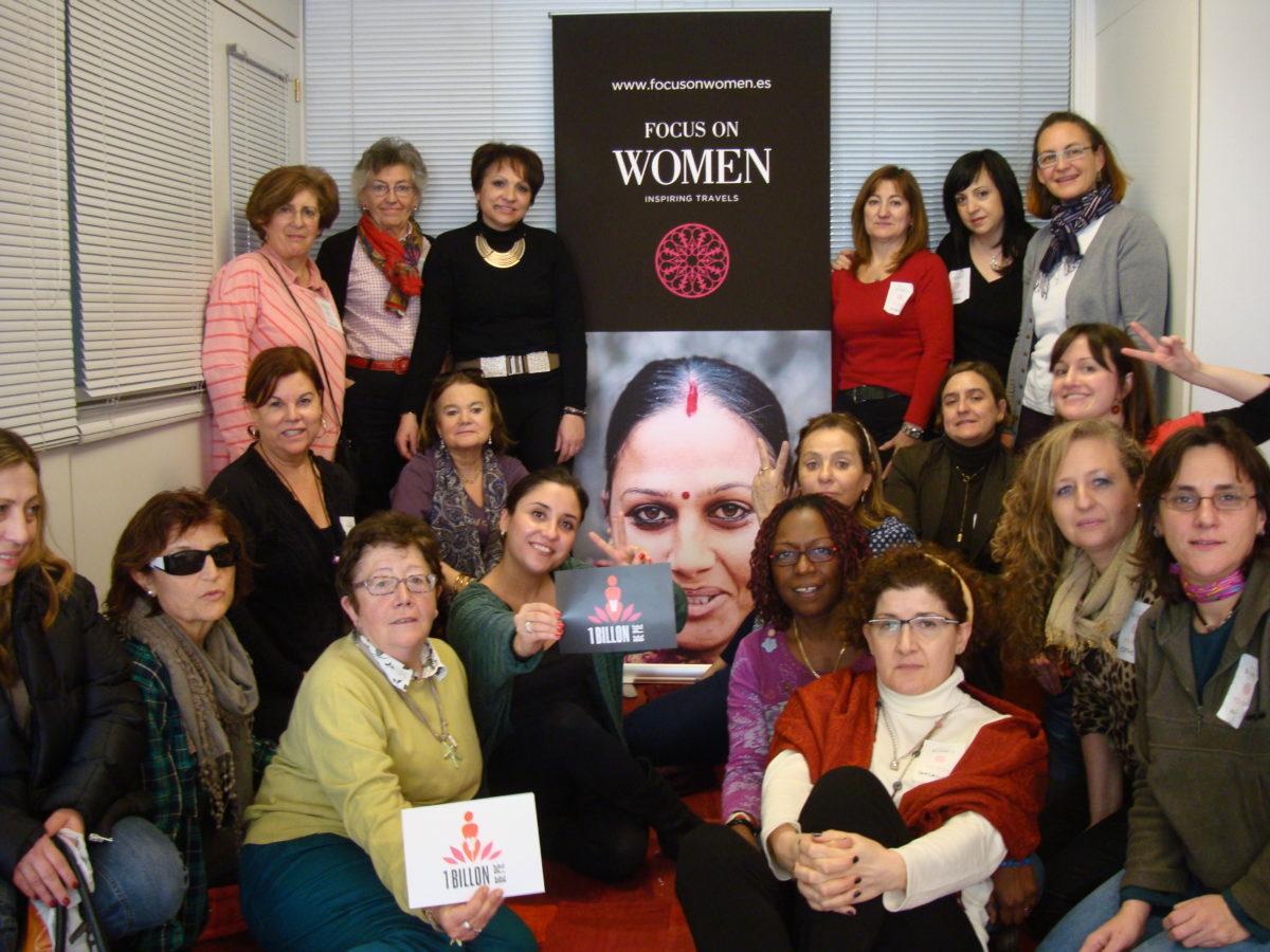 El grupo que participó en el #meetFOW de Madrid, el noveno Encuentro de Viajeras