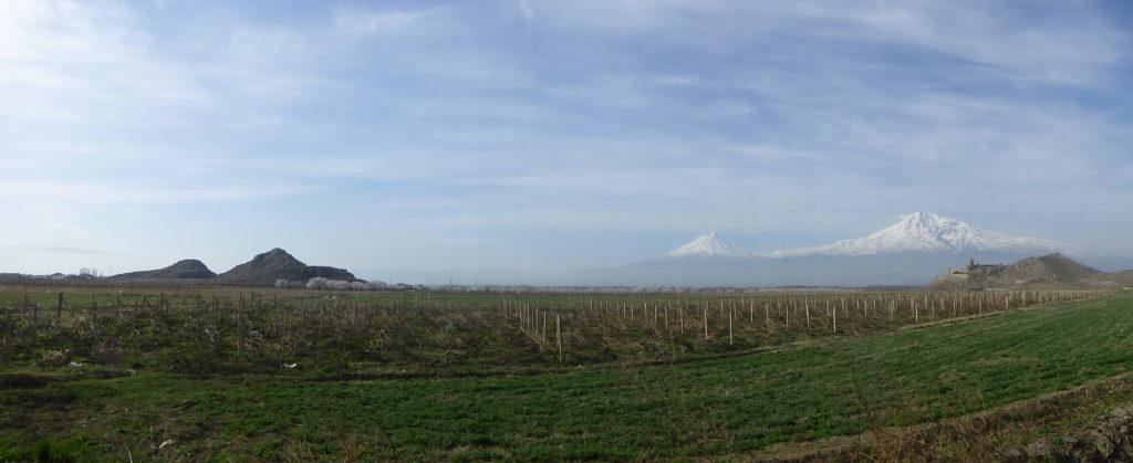 monte Ararat, panorámica, Armenia, paisaje